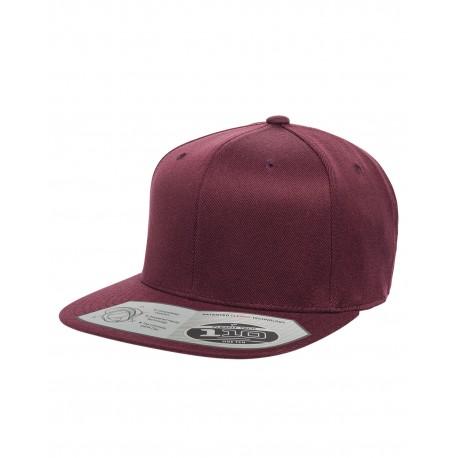 110F Flexfit 110F Adult Wool Blend Snapback Cap MAROON