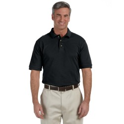 Harriton M200 Men's 6 oz. Ringspun Cotton Pique Short-Sleeve Polo