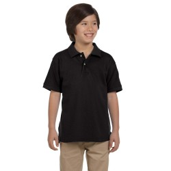 Harriton M200Y Youth 6 oz. Ringspun Cotton Pique Short-Sleeve Polo