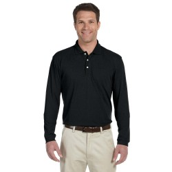 Harriton M265L Men's 5.6 oz. Easy Blend Long-Sleeve Polo