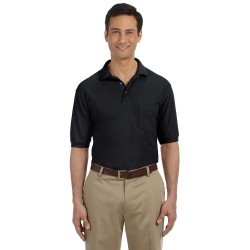 Harriton M265P Men's 5.6 oz. Easy Blend Polo with Pocket