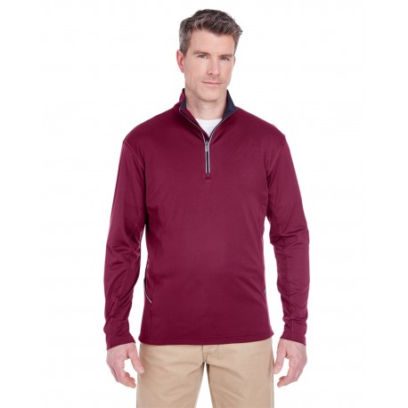 8230 UltraClub 8230 Men's Cool & Dry Sport Quarter-Zip Pullover MAROON