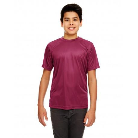 8420Y UltraClub 8420Y Youth Cool & Dry Sport Performance Interlock T-Shirt MAROON