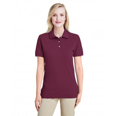 443WR Jerzees 443WR Ladies' 6.5 oz. Premium 100% Ringspun Cotton Pique Polo MAROON