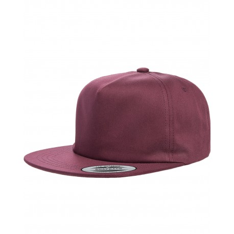Y6502 Yupoong Y6502 Adult Unstructured 5-Panel Snapback Cap MAROON
