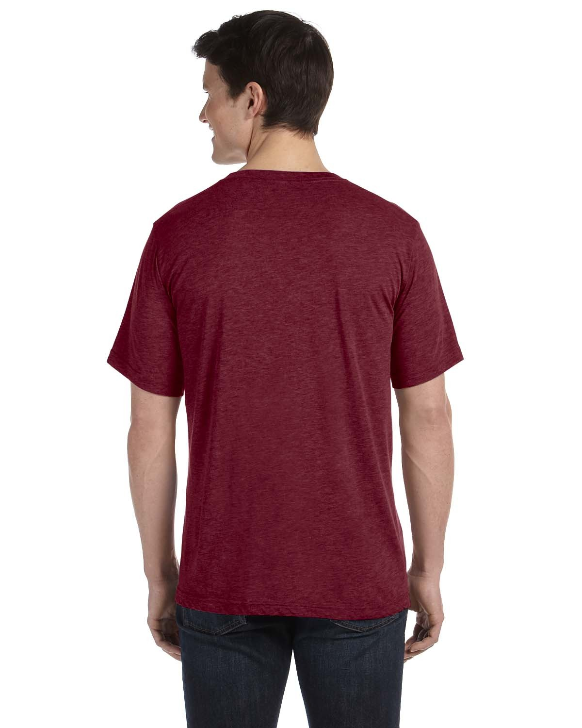 3415C Bella + Canvas MAROON TRIBLEND