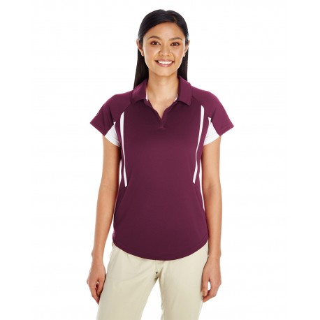 222730 Holloway 222730 Ladies' Avenger Short-Sleeve Polo MAROON/WHITE