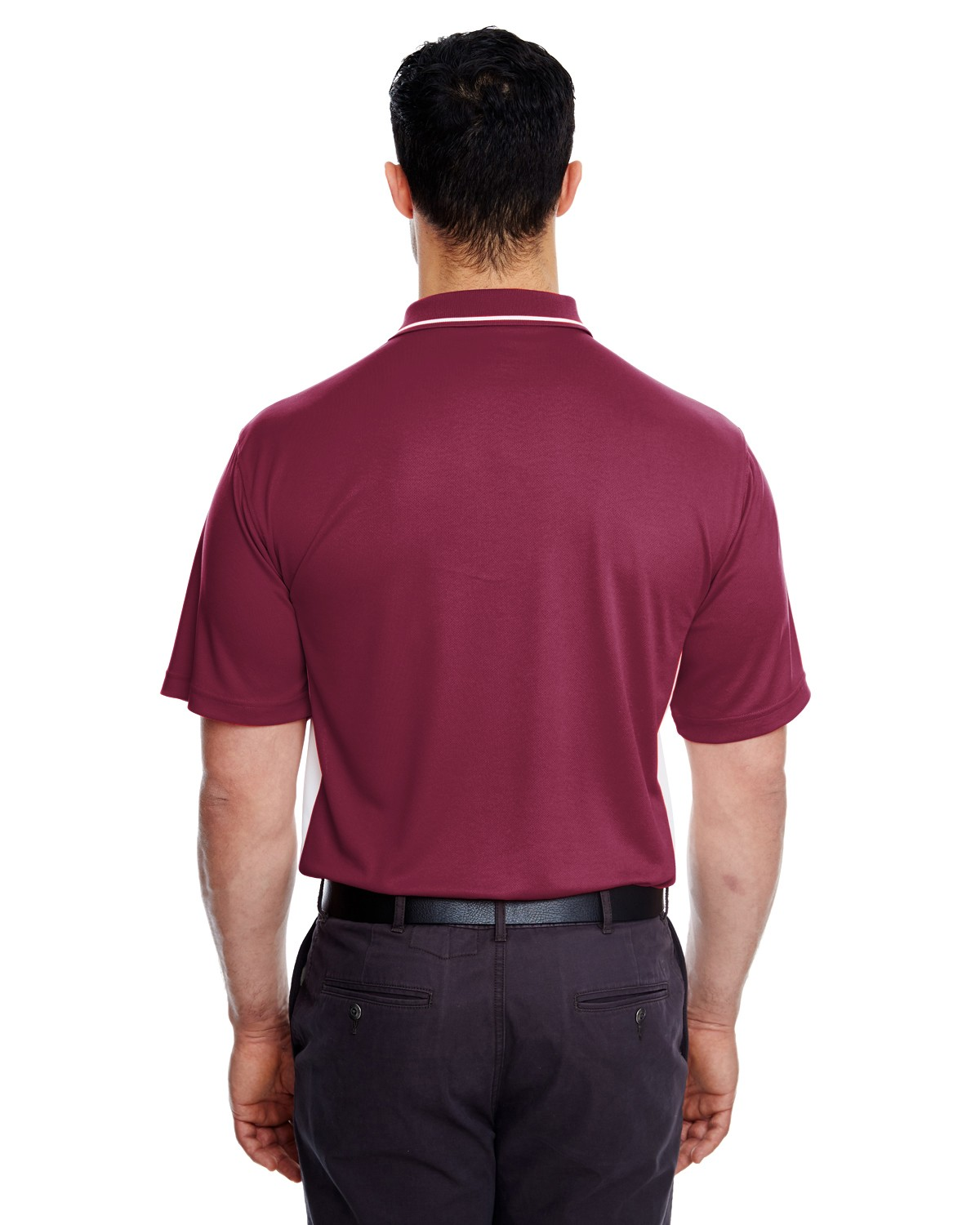 8406 UltraClub MAROON/WHITE