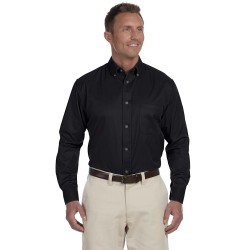 Harriton M500 Men's Easy Blend Long-Sleeve Twill Shirt with Stain-Release