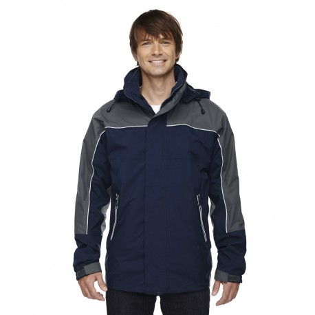88052 North End 88052 Adult 3-in-1 Seam-Sealed Mid-Length Jacket with Piping MIDN NAVY 711