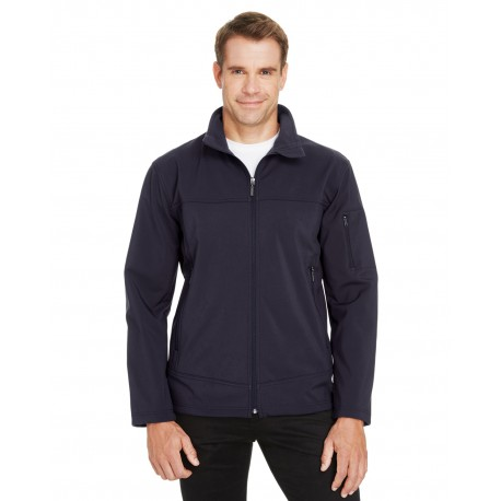 88099 North End 88099 Men's Three-Layer Fleece Bonded Performance Soft Shell Jacket MIDN NAVY 711
