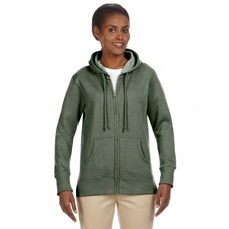 EC4580 Econscious EC4580 Ladies' 7 oz. Organic/Recycled Heathered Fleece Full-Zip Hood MILITARY GREEN