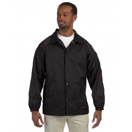 M775 Harriton M775 Adult Nylon Staff Jacket BLACK