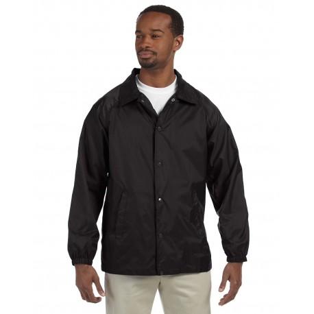 M775 Harriton M775 Adult Nylon Staff Jacket BLACK