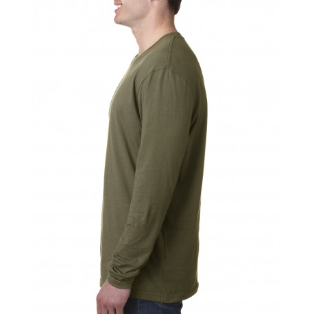N3601 Next Level N3601 Men's Cotton Long-Sleeve Crew MILITARY GREEN