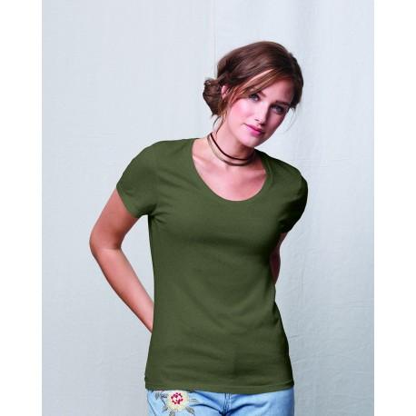 MO150 Hanes MO150 Ladies' Modal Triblend Scoop T-Shirt MILITARY GRN TRB