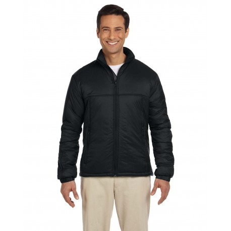 M797 Harriton M797 Men's Essential Polyfill Jacket BLACK