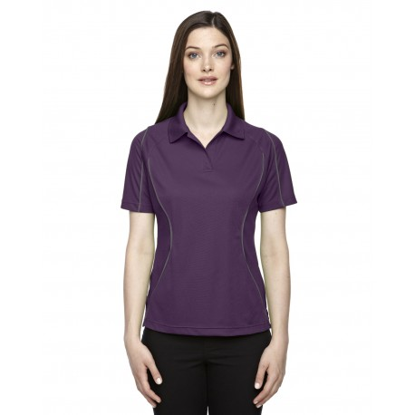 75107 Extreme 75107 Ladies' Eperformance Velocity Snag Protection Colorblock Polo with Piping MULBRY PURPL 449