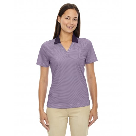 75115 Extreme 75115 Ladies' Eperformance Launch Snag Protection Striped Polo MULBRY PURPL 449