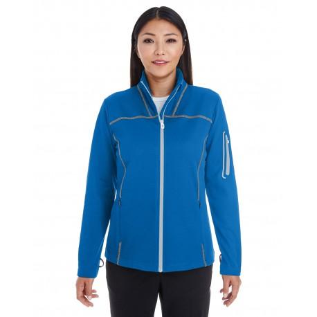 NE703W North End NE703W Ladies' Endeavor Interactive Performance Fleece Jacket N BL/GR/PL 413