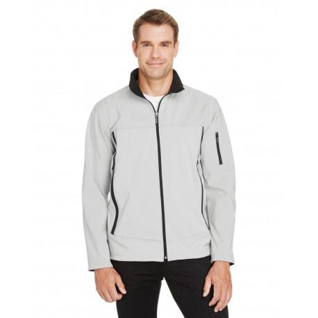 88099 North End 88099 Men's Three-Layer Fleece Bonded Performance Soft Shell Jacket NATRL STONE 820