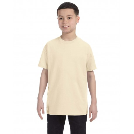 G500B Gildan G500B Youth 5.3 oz. T-Shirt NATURAL