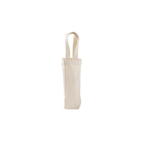 1725 Liberty Bags 1725 Single Bottle Wine Tote NATURAL