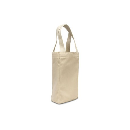 1726 Liberty Bags 1726 Double Bottle Wine Tote NATURAL