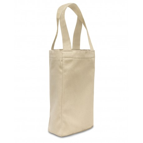 OAD112 OAD OAD112 Two Bottle Wine Tote NATURAL