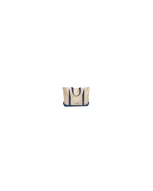 8872 Liberty Bags NATURAL/NAVY