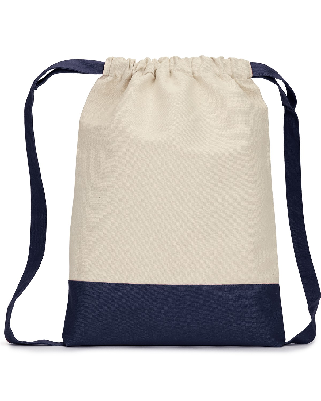 8876 Liberty Bags NATURAL/NAVY