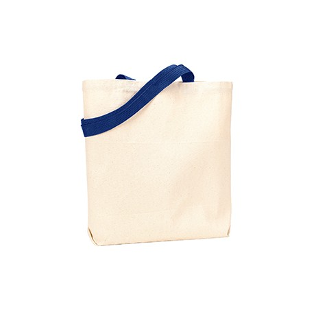 9868 Liberty Bags 9868 Jennifer Recycled Cotton Canvas Tote NATURAL/NAVY
