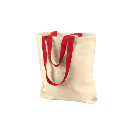 8868 Liberty Bags 8868 Marianne Cotton Canvas Tote NATURAL/RED