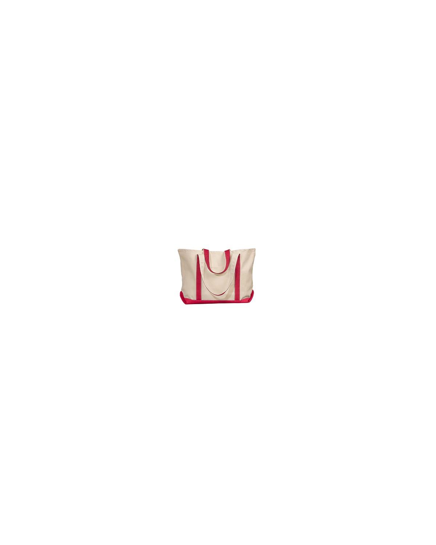 8872 Liberty Bags NATURAL/RED