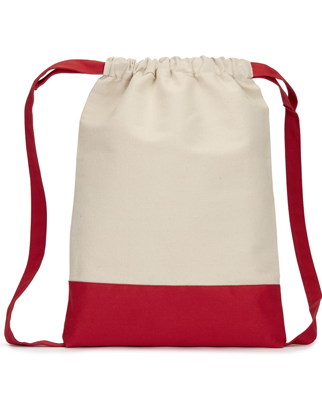 8876 Liberty Bags NATURAL/RED