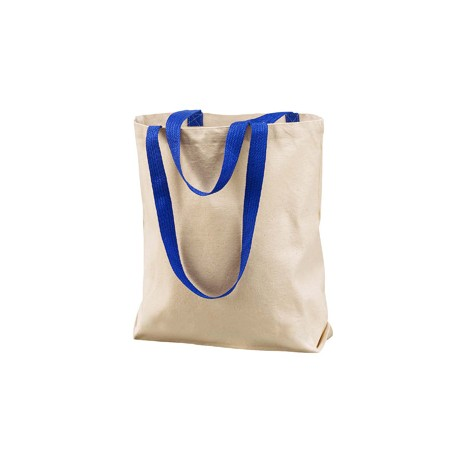 8868 Liberty Bags 8868 Marianne Cotton Canvas Tote NATURAL/ROYAL