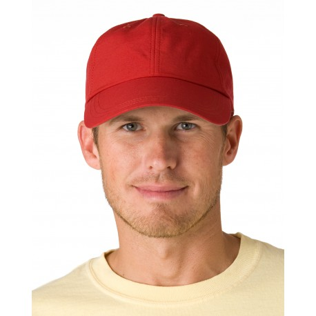 SH101 Adams SH101 6-Panel UV Low-Profile Cap with Elongated Bill NAUTICAL RED