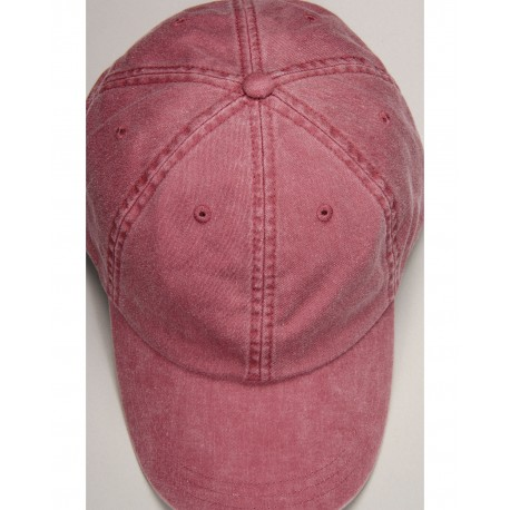 ACEP101 Adams ACEP101 Cotton Twill Essentials Pigment-dyed Cap NAUTICAL RED