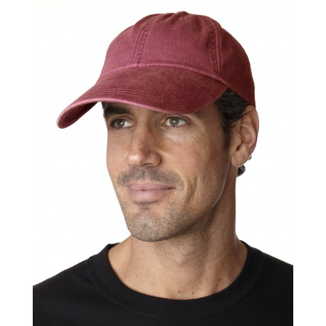 ACSB101 Adams ACSB101 Cotton Twill Pigment-Dyed Sunbuster Cap NAUTICAL RED