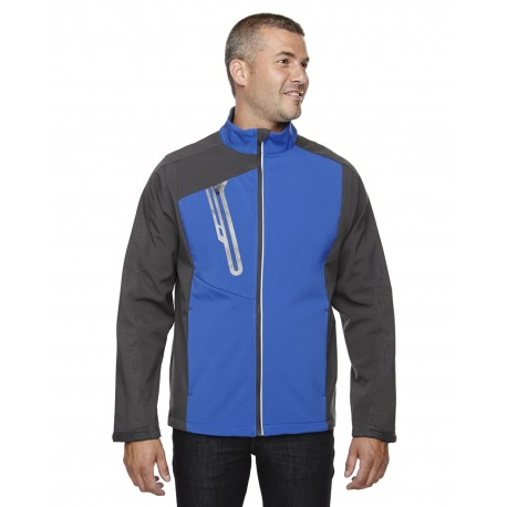 88176 North End 88176 Men's Terrain Colorblock Soft Shell with Embossed Print NAUTICL BLUE 413