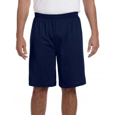 915 Augusta Sportswear 915 Adult Longer-Length Jersey Short NAVY