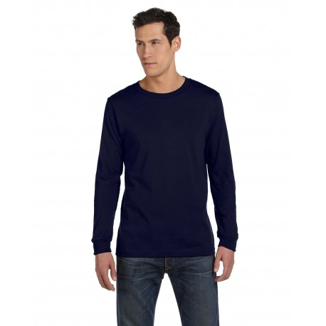 3501 Bella + Canvas 3501 Unisex Jersey Long-Sleeve T-Shirt NAVY