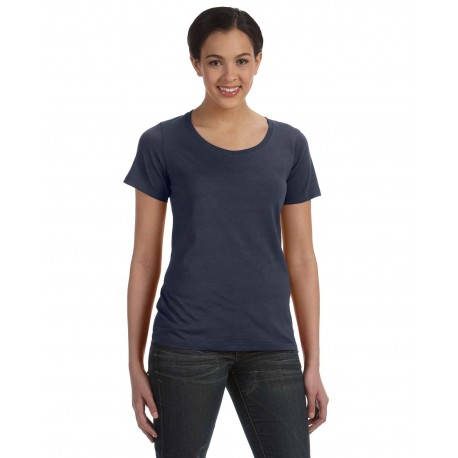 391A Anvil 391A Ladies' Featherweight Scoop T-Shirt NAVY