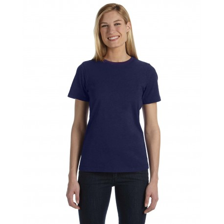 B6400 Bella + Canvas B6400 Ladies' Relaxed Jersey Short-Sleeve T-Shirt NAVY