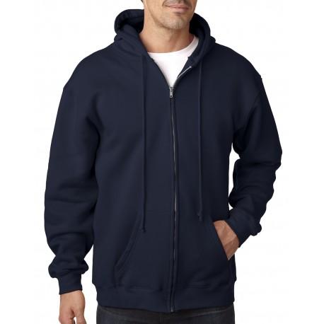 BA900 Bayside BA900 Adult Hooded Full-Zip Fleece NAVY