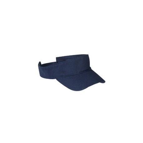 BX006 Big Accessories BX006 Cotton Twill Visor NAVY