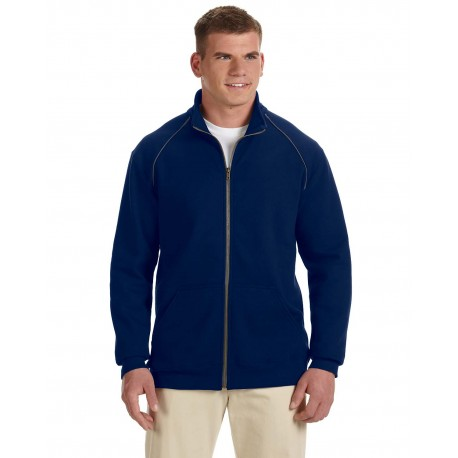 G929 Gildan G929 Adult Premium Cotton Adult 9 oz. Fleece Full-Zip Jacket NAVY