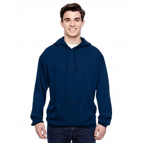 JA8815 J America JA8815 Adult Tailgate Fleece Pullover Hood NAVY