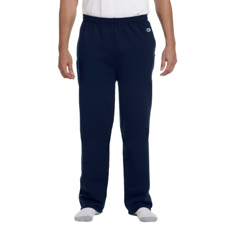 P800 Champion P800 Adult 9 oz. Double Dry Eco Open-Bottom Fleece Pant with Pockets NAVY