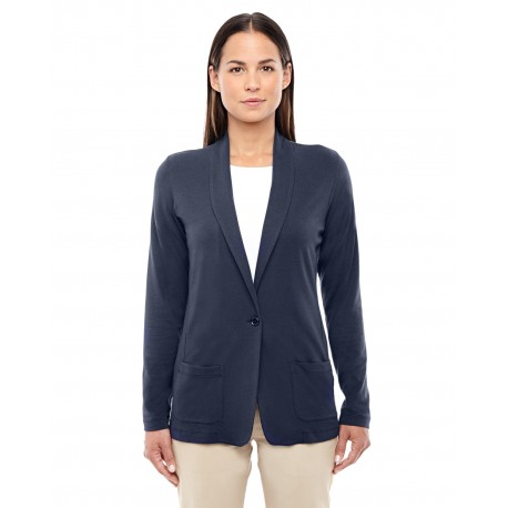 DP462W Devon & Jones DP462W Ladies' Perfect Fit Shawl Collar Cardigan NAVY